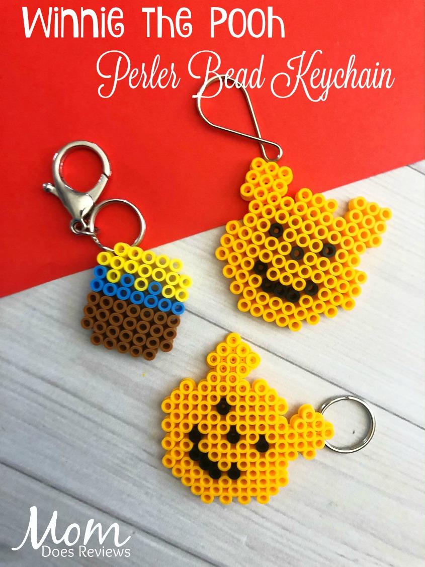 Winnie the Pooh Perler Bead Keychain #craft #diy #winniethepooh