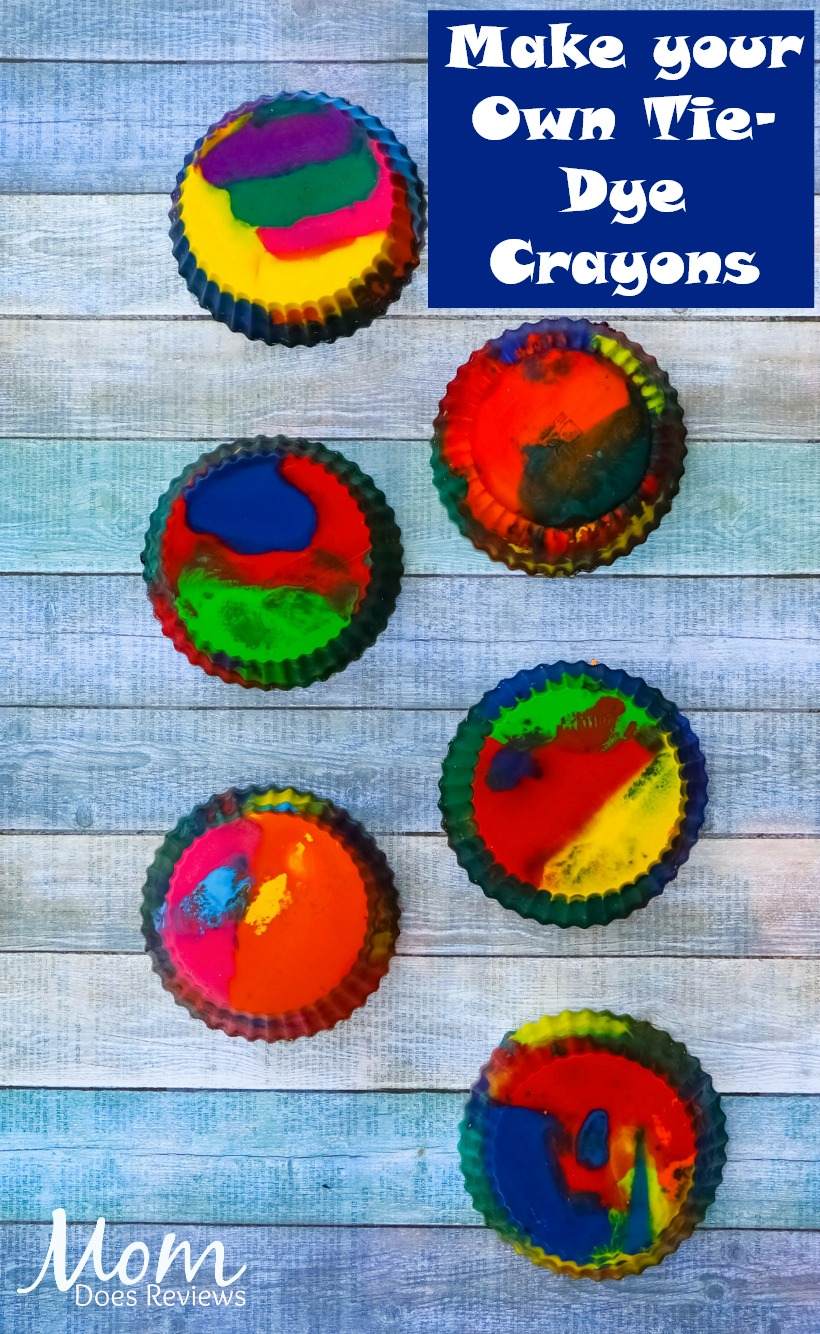 Make your Own Tie Dye Crayons #crafts #diy #crayons #crafty