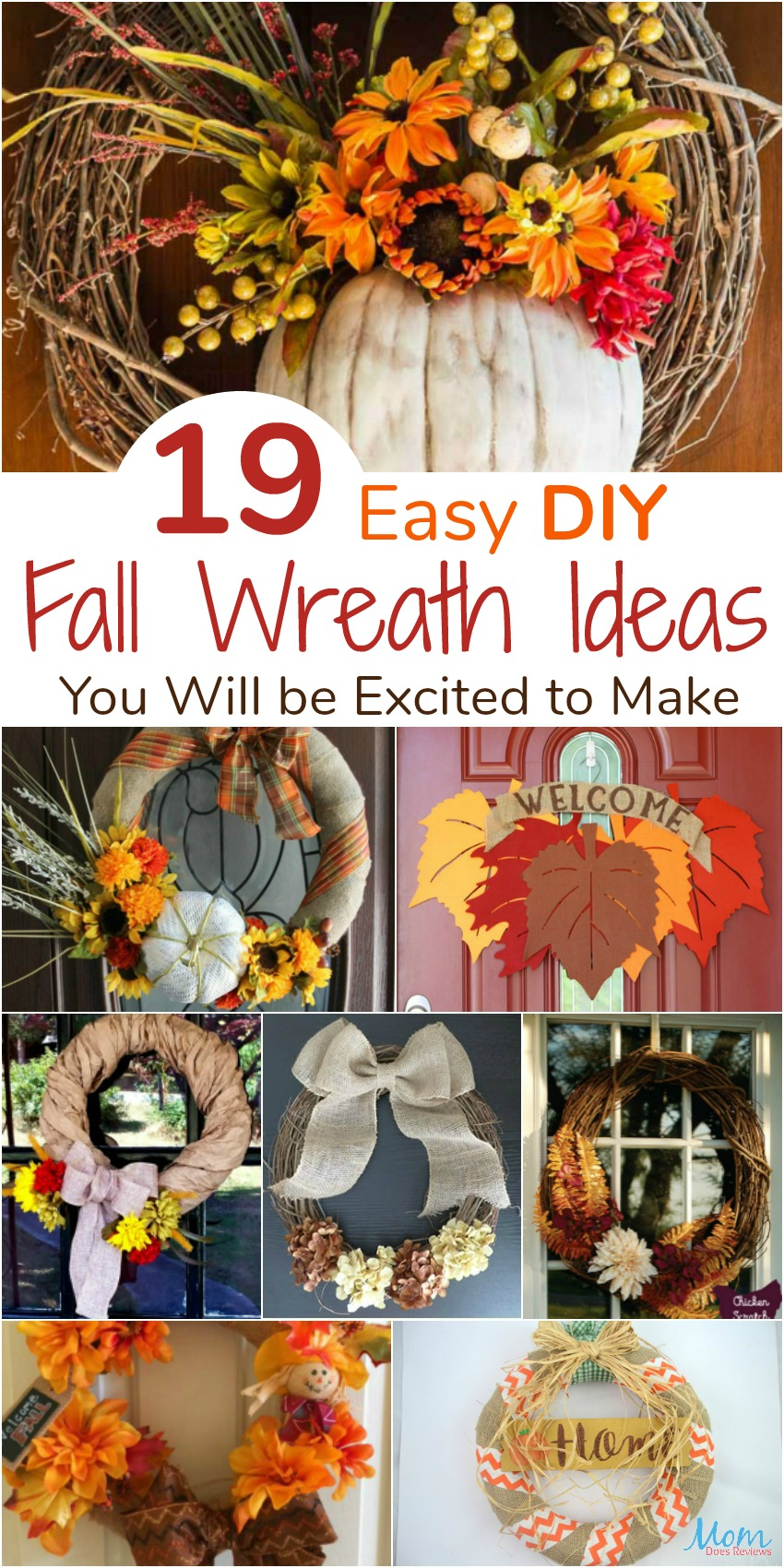 19 Easy Diy Fall Wreath Ideas You Will Be Excited To Make Mom Does Reviews