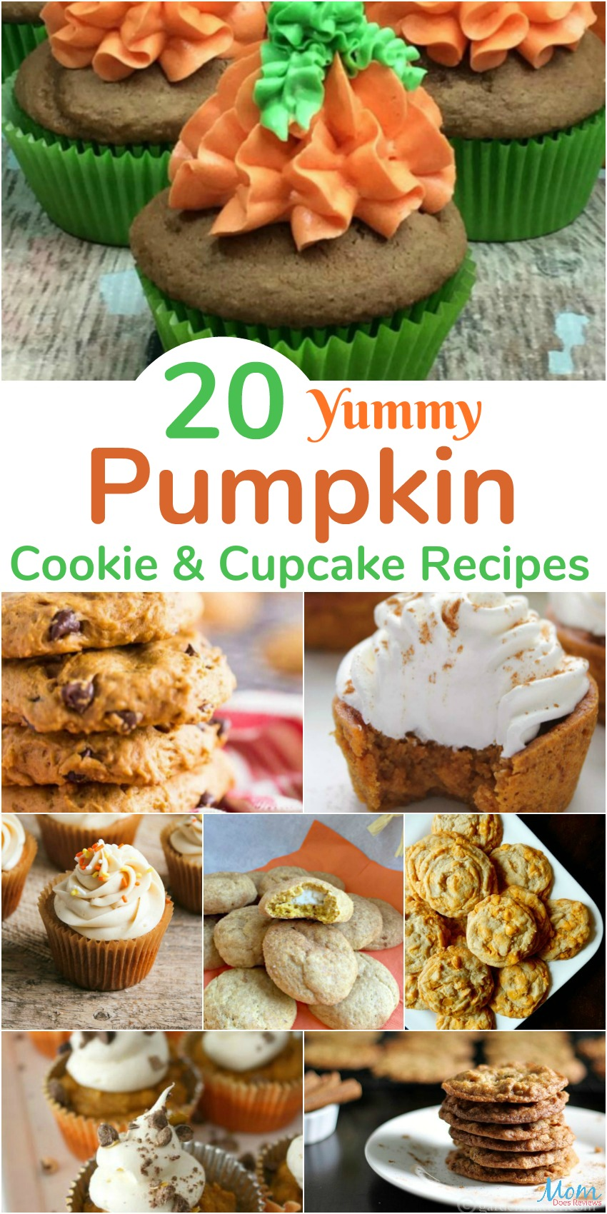 20 Yummy Pumpkin Cookie & Cupcake Recipes You Have to Make banner
