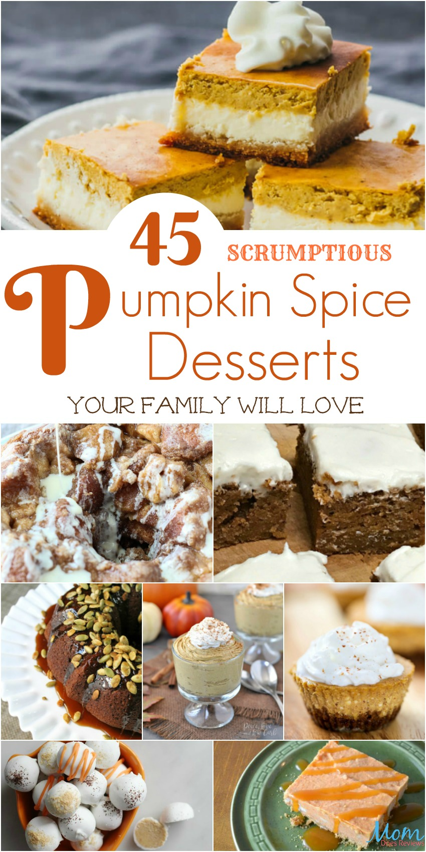 45 Scrumptious Pumpkin Spice Desserts Your Family Will Love banner
