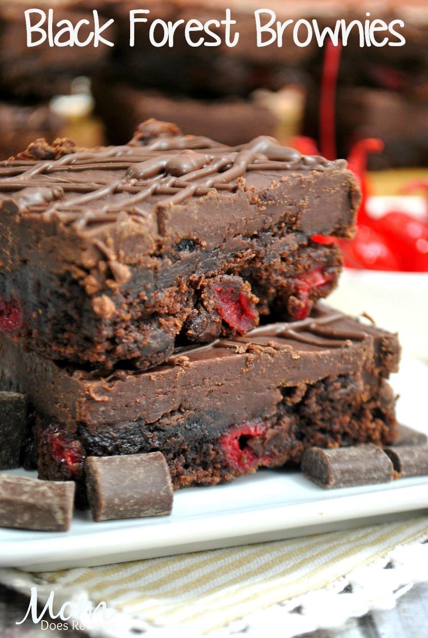 Black Forest Brownies #desserts #brownies #foodie