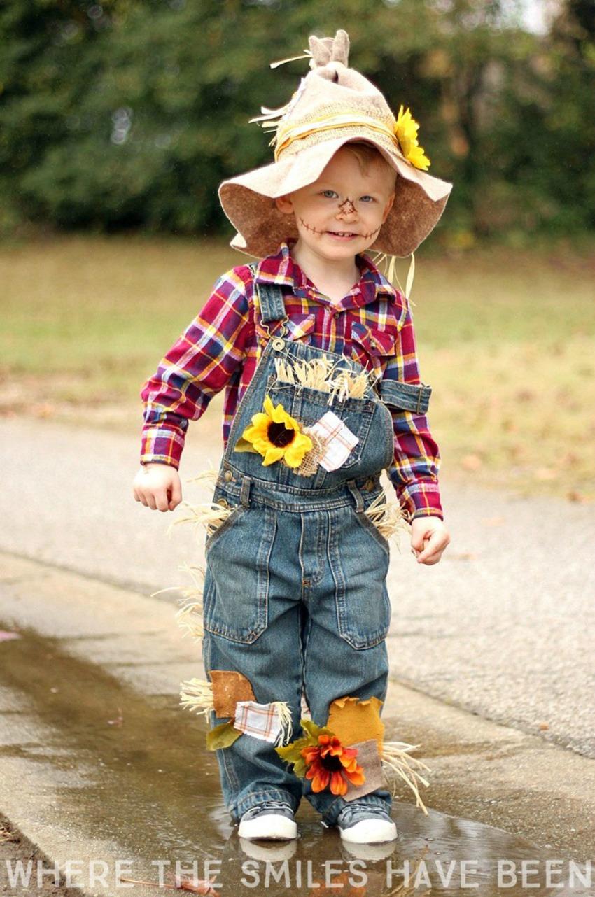 Easy & Adorable DIY Scarecrow Costume