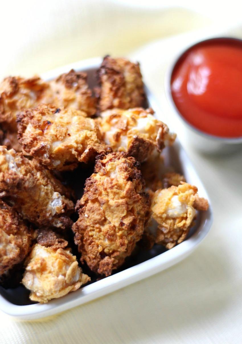 Extra Crispy Gluten-Free Air Fryer Popcorn Chicken