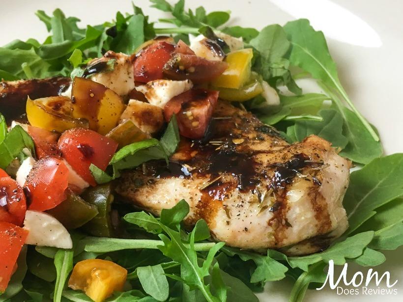 Mozzarella Butterflied Chicken Breasts with Balsamic Glaze