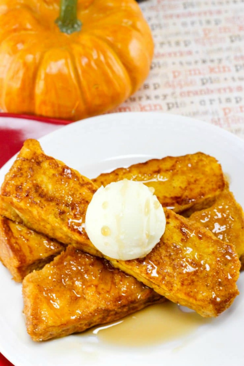 Pumpkin French Toast Sticks