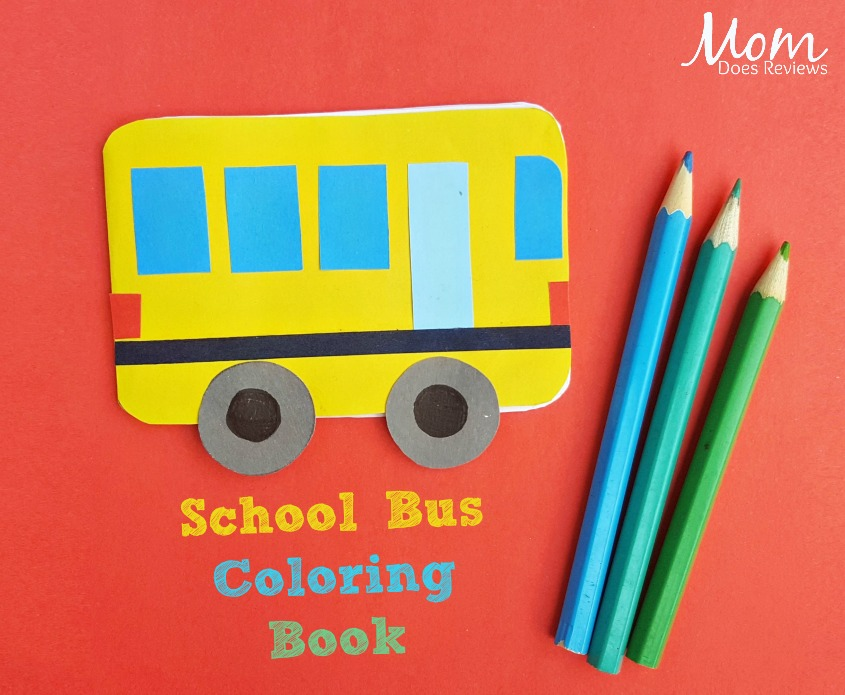 School Bus Coloring Book - a Fun Back-to-School Craft!