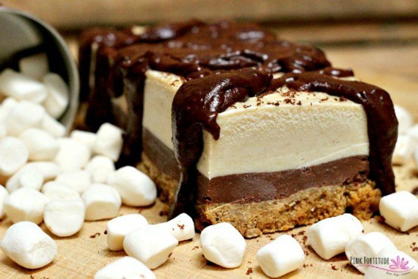 Smores Ice Cream Cake – Gluten Free and Vegan