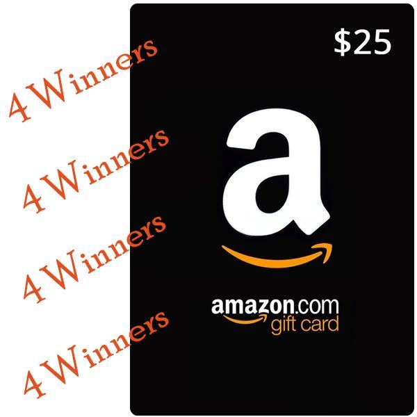 4 Winners $25 Amazon GC