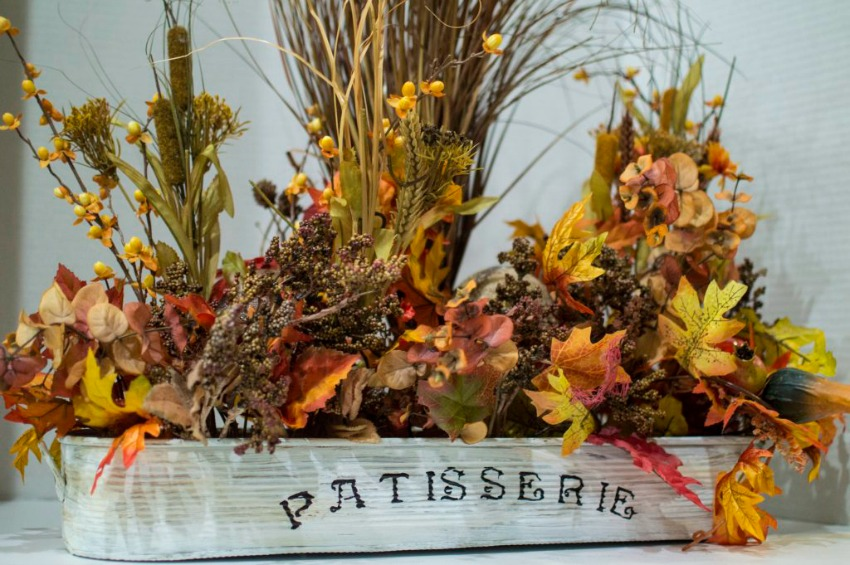 DIY Thanksgiving Centerpiece from Thrift Store Items