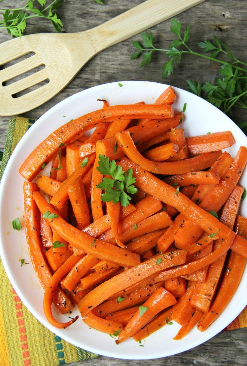 Maple Dijon Glazed Carrots