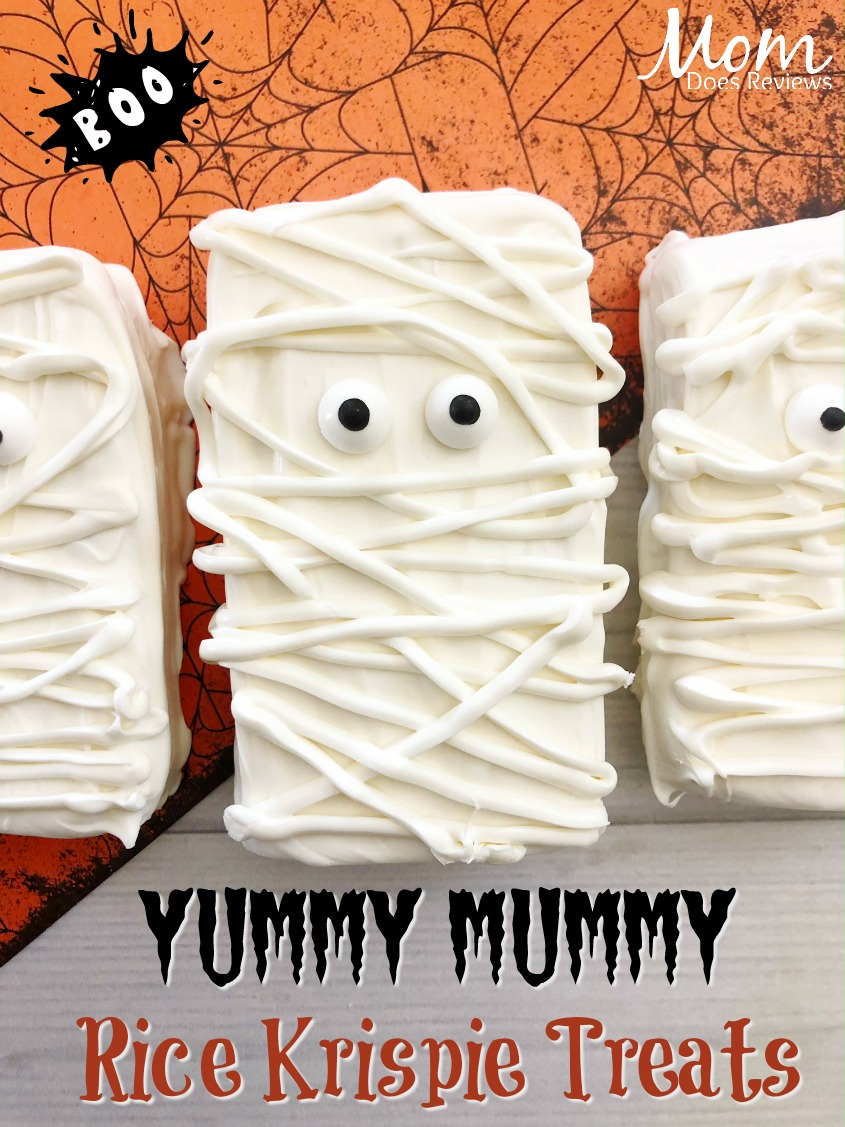 Yummy Mummy Rice Krispie Treats #halloween #funhalloween18 #sweettreats