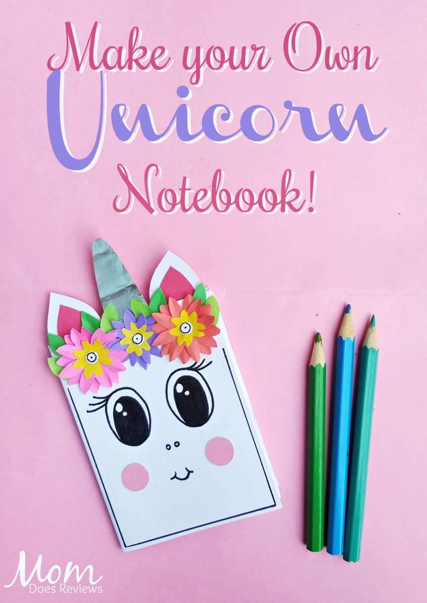 Make your Own Unicorn Notebook #unicorns #diy #craft