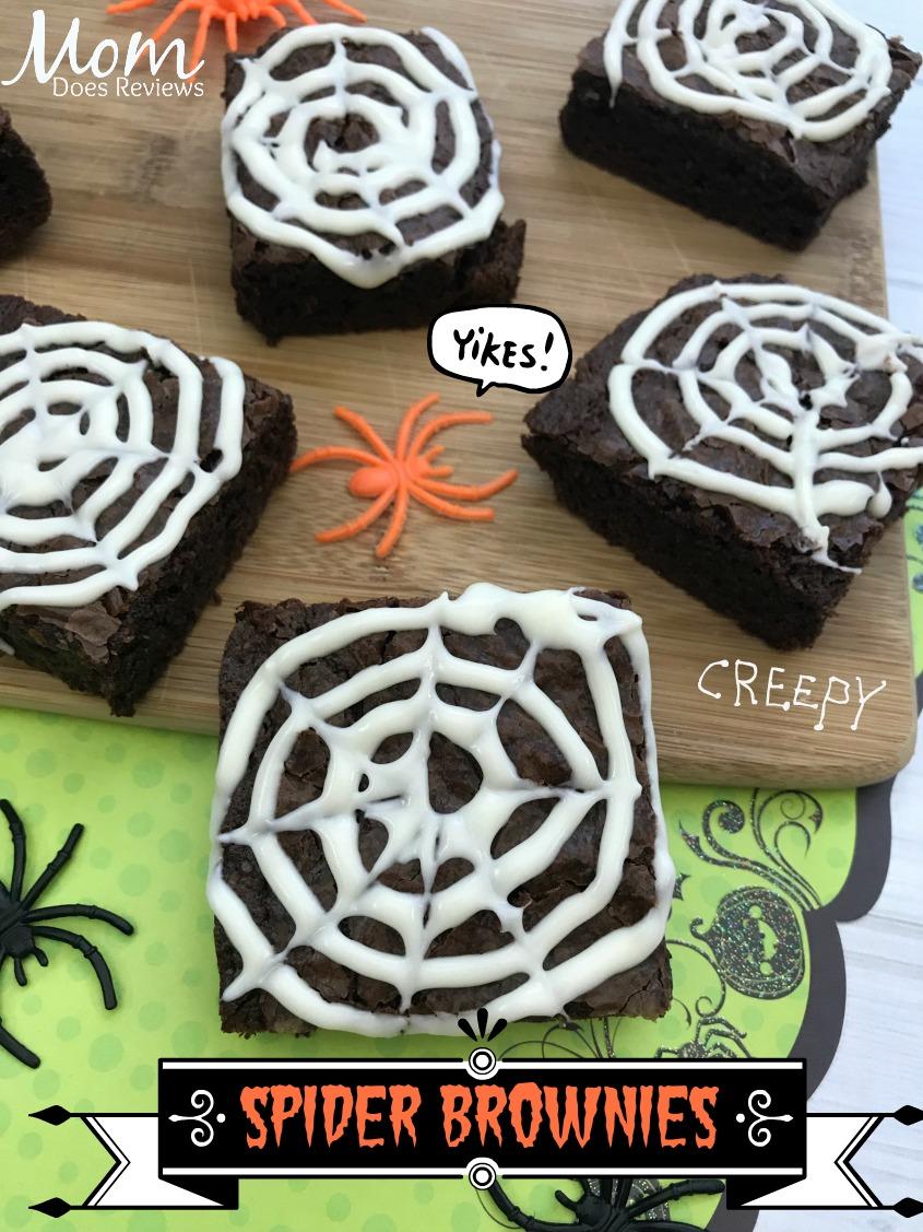 Spider Brownies #halloween #desserts #funfood
