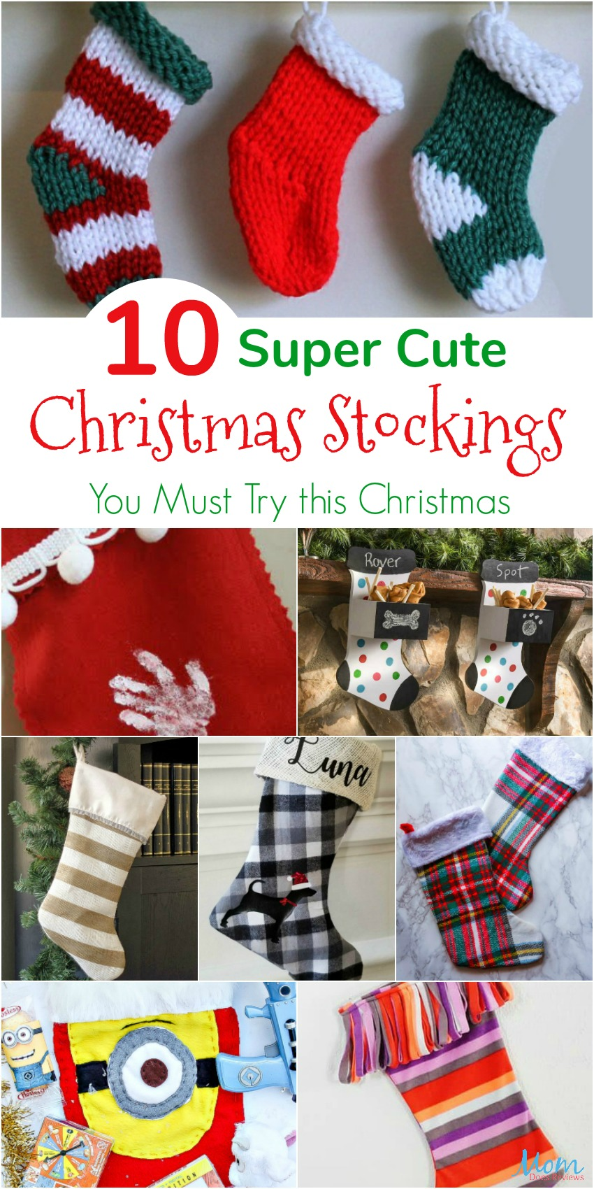 10 Super Cute DIY Christmas Stockings You Must Try this Christmas #DIY #crafts #christmas #crafty #christmascrafts
