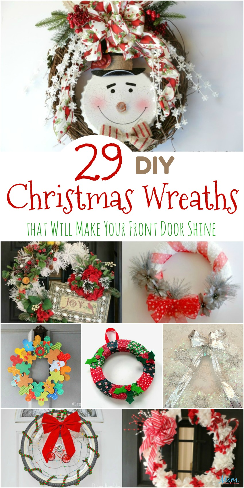 29 DIY Christmas Wreaths that Will Make Your Front Door Shine