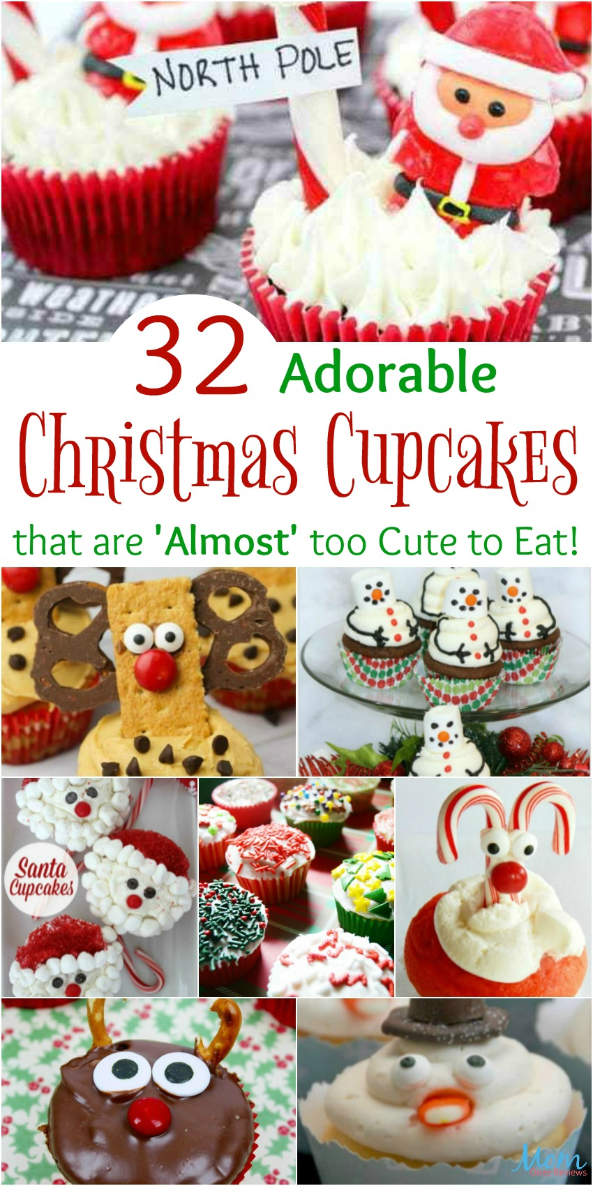 32 Adorable Christmas Cupcakes that are 'Almost' too Cute to Eat
