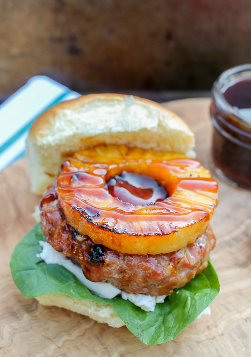 Asian Pork Burgers with Grilled Pineapple