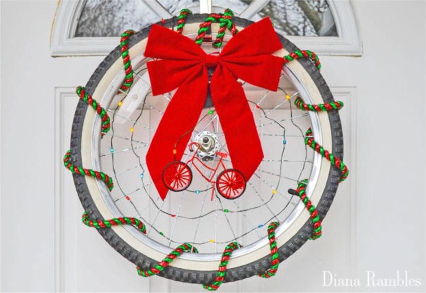 Bicycle Christmas Wreath