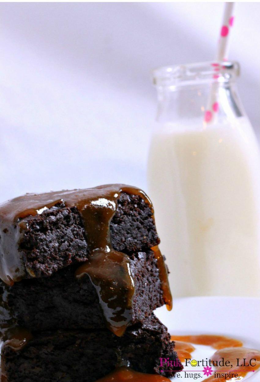Chocolate Fudgey Caramel Brownies – Gluten Free & Vegan