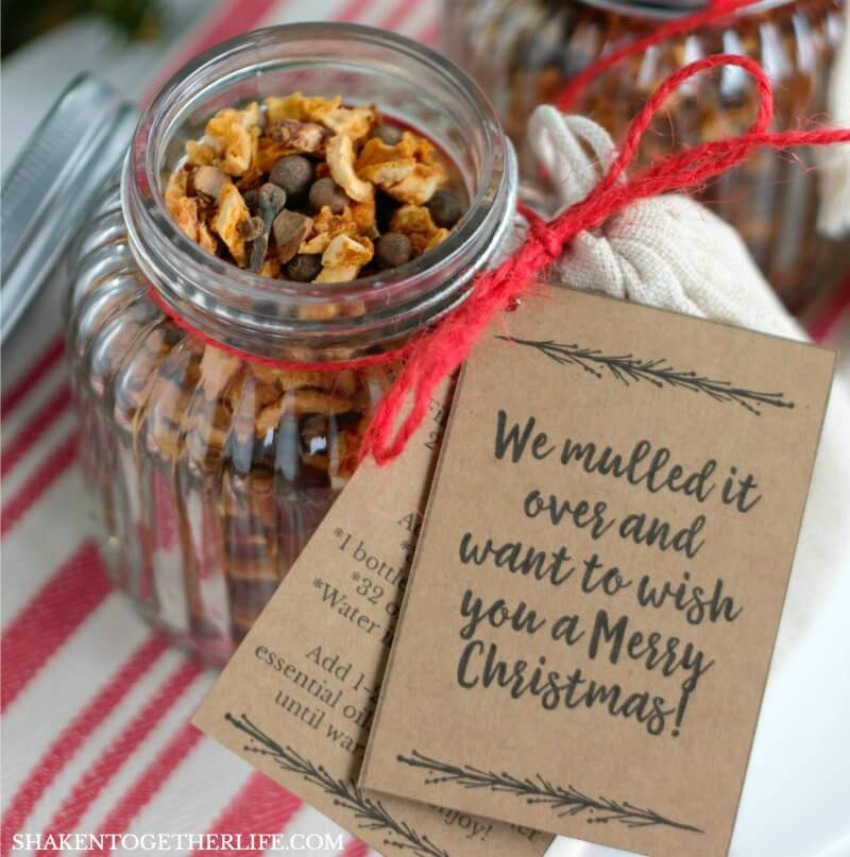 Essential Oils Mulling Spices Gift + Printable Tags