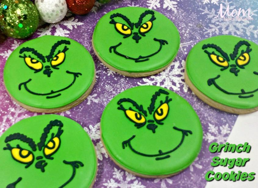 Grinch Sugar Cookies #TheGrinch