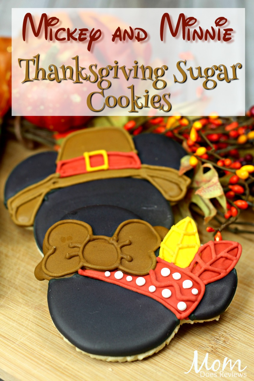 Mickey and Minnie Thanksgiving Sugar Cookies #cookies #thanksgiving #disney #mickey #minnie