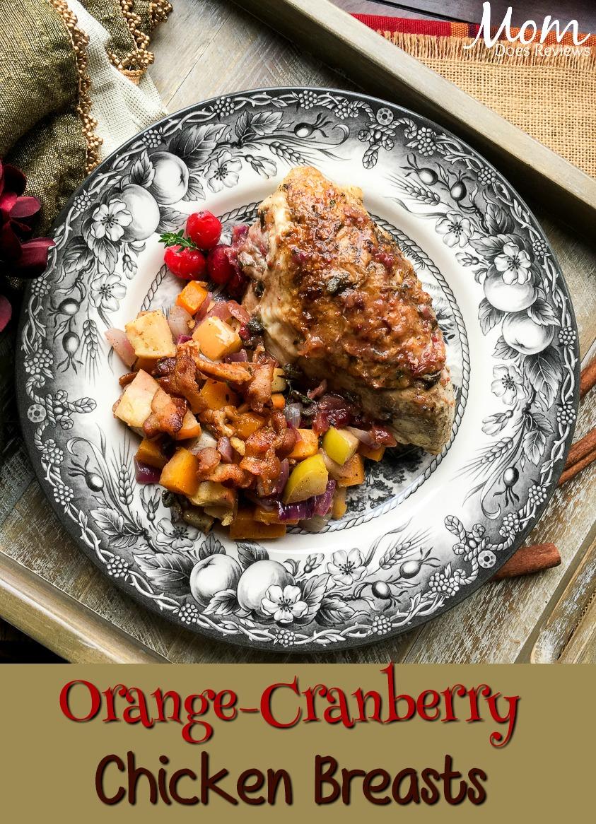 Orange-Cranberry Bone-In Chicken Breasts #recipe #foodie #chicken #getinmybelly