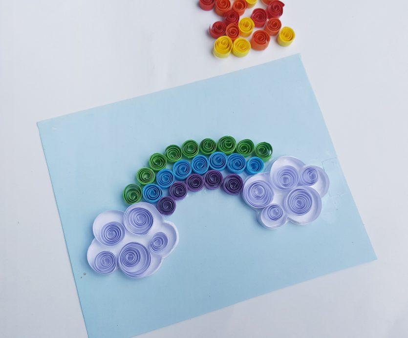 Quilled Rainbow Art Paper #Craft