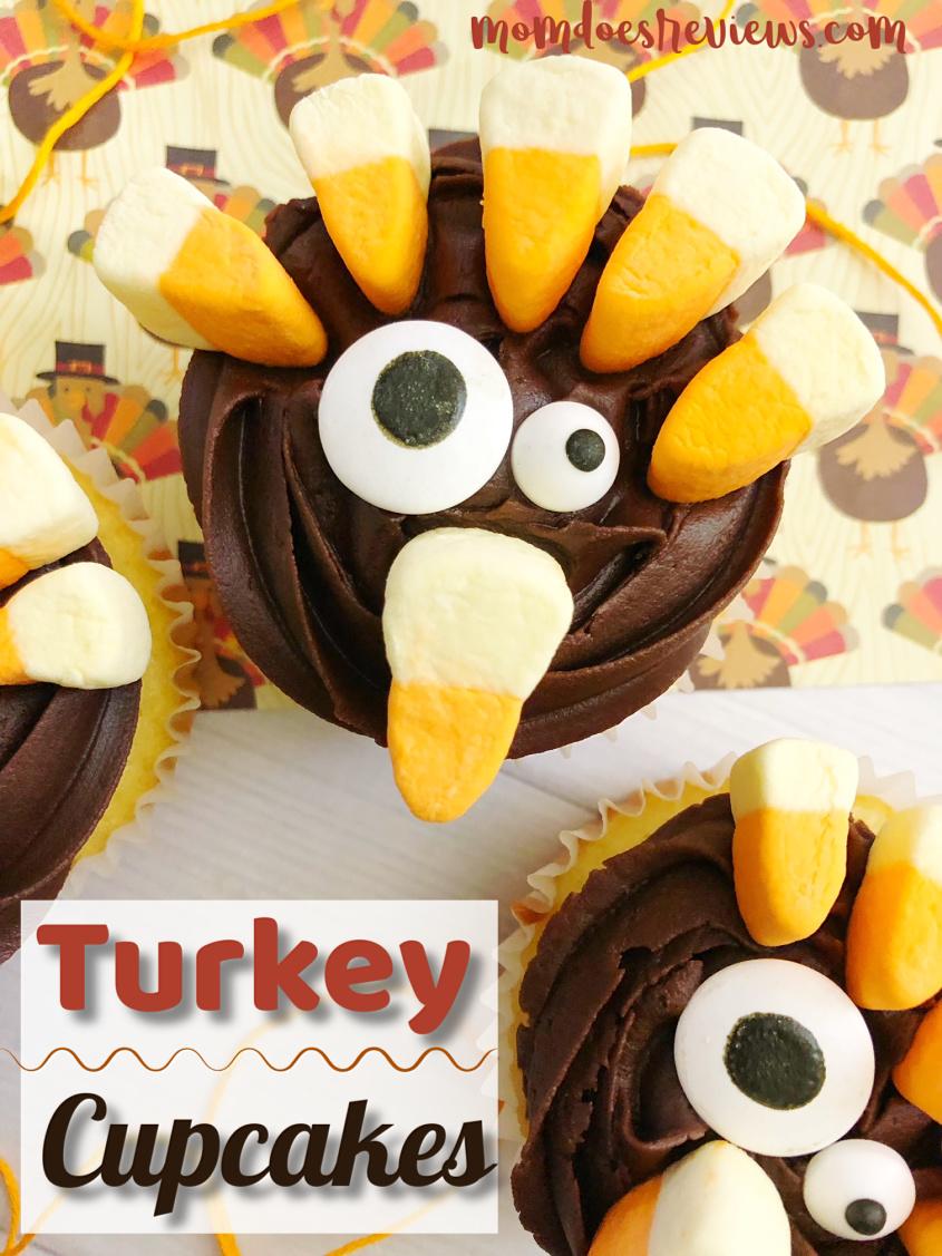 Turkey Cupcakes #cupcakes #thanksgiving #treats #desserts #funfood