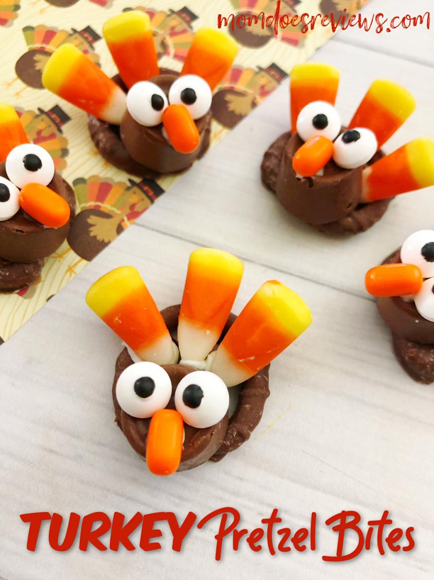 Easy Turkey Pretzel Bites #food #thanksgiving #turkey #pretzels #funfood