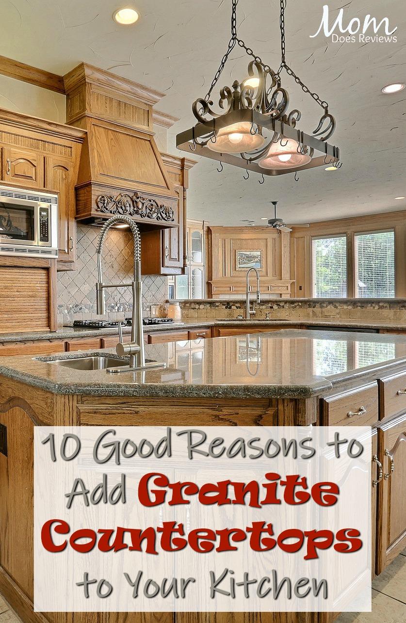 10 Good Reasons to Add Granite Countertops to Your Kitchen  #kitchens #granite #interiordesign #homeandliving