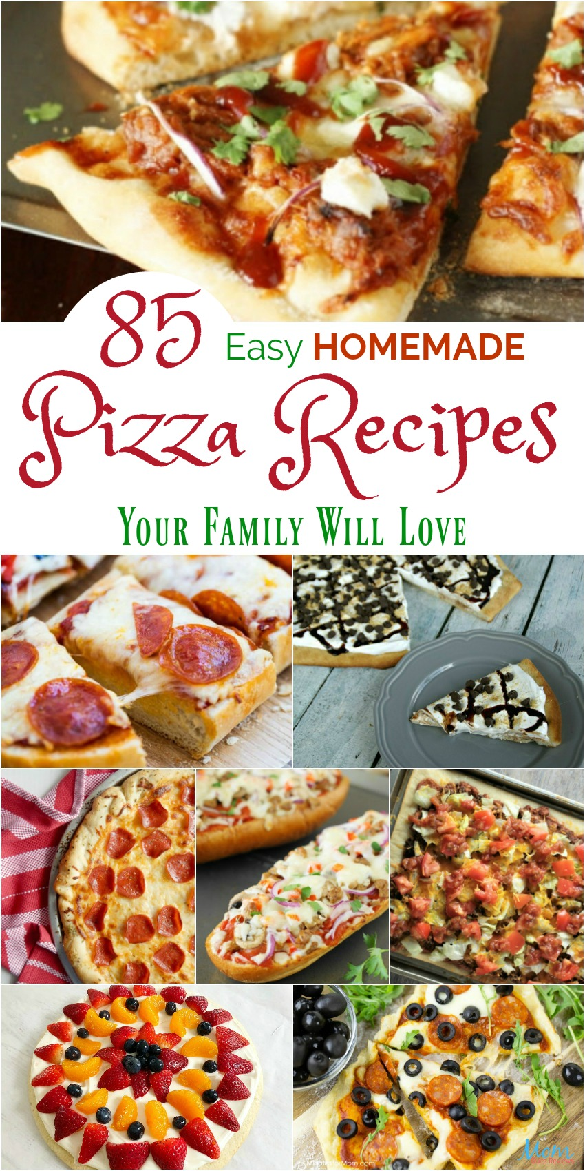 85 Easy Homemade Pizza Recipes Your Family Will Love #recipes #pizza #food #getinmybelly