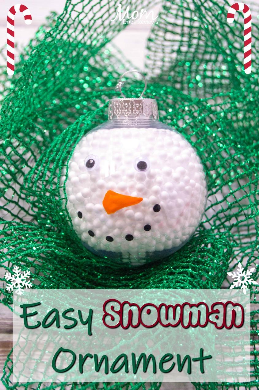 Easy Snowman Ornament #Diy #craft #christmas #ornament #snowman