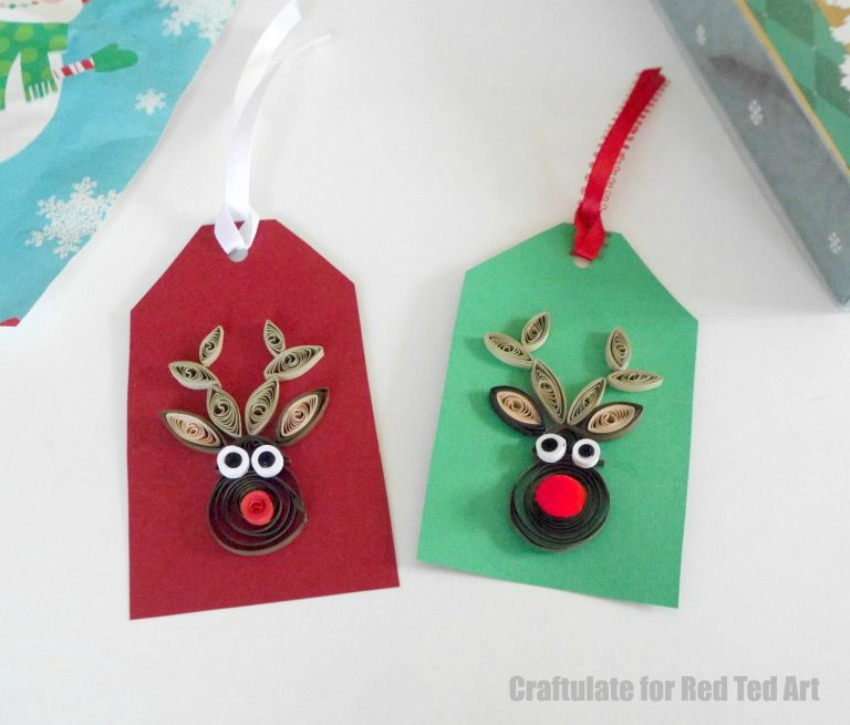 Quilled Reindeer Pattern