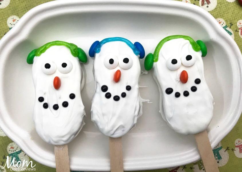 Snowman Nutter Butter Treats