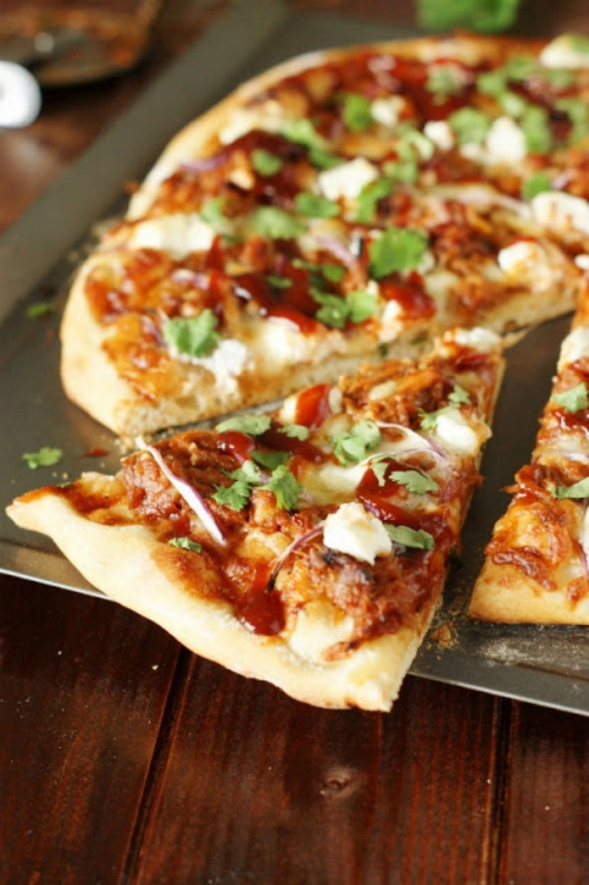 Sweet & Spicy Pulled Pork BBQ Pizza