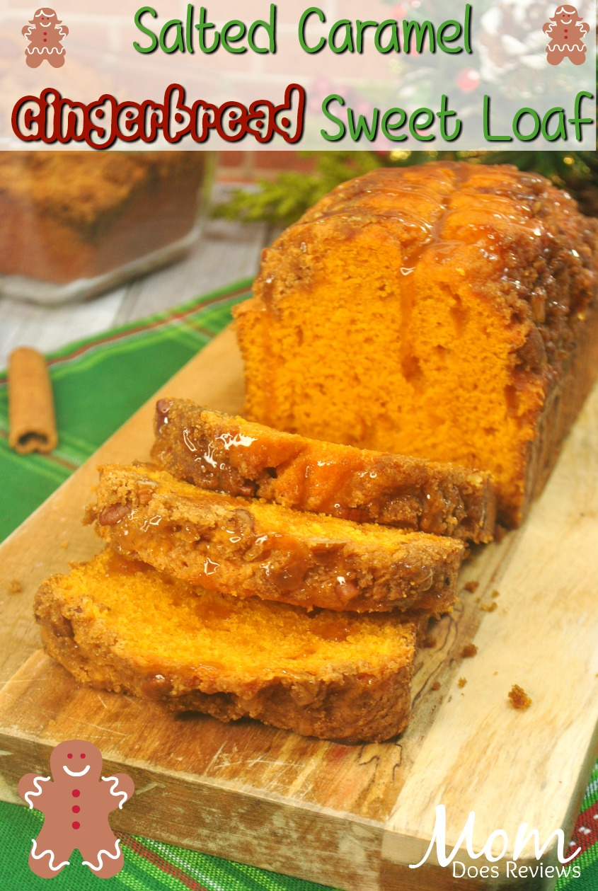 Salted Caramel Gingerbread Sweet Loaf #sweets #christmas #gingerbread