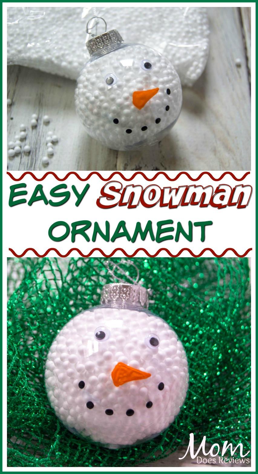 Easy Snowman Ornament #DIY #christmas #snowman
