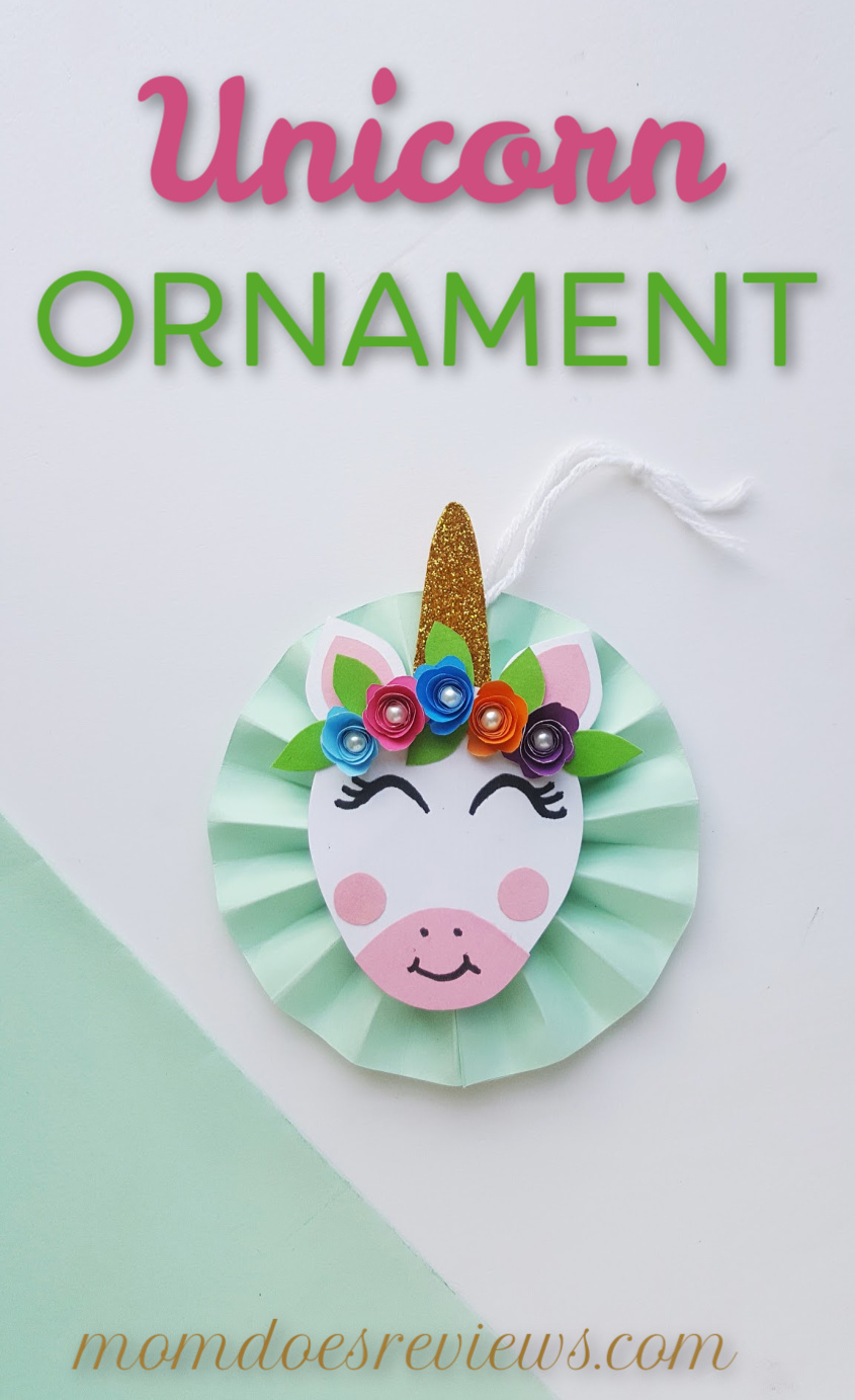 DIY Unicorn Ornament #christmas #diy #craft #papercraft #unicorns