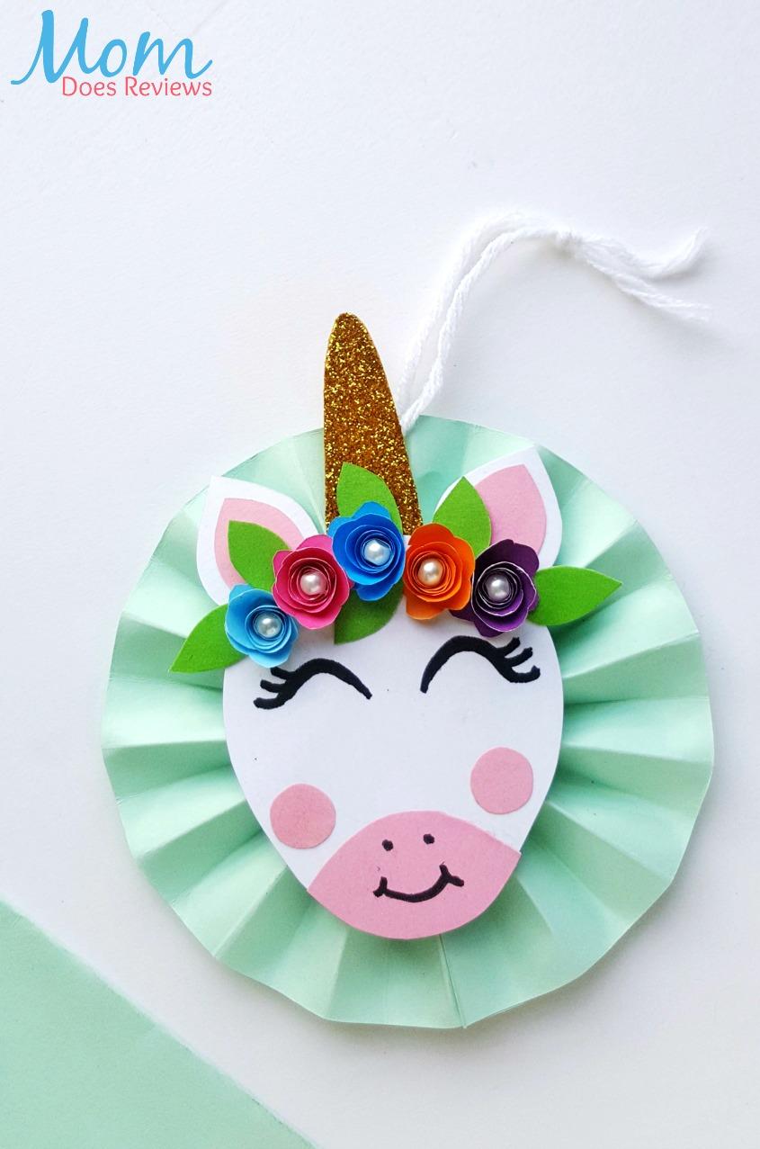 DIY Unicorn Ornament #christmas #unicorns #crafts #diy
