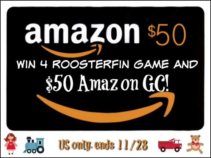 #Win Game Set by RoosterFin Games and $50 Amazon Gift Card, Open to USA, ends 11/28 #MEGAChristmas18