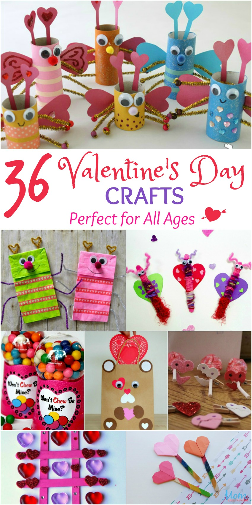 36 Valentine's Day Crafts Perfect for All Ages #Sweet2019 #crafts #valentinesday #diy #funstuff