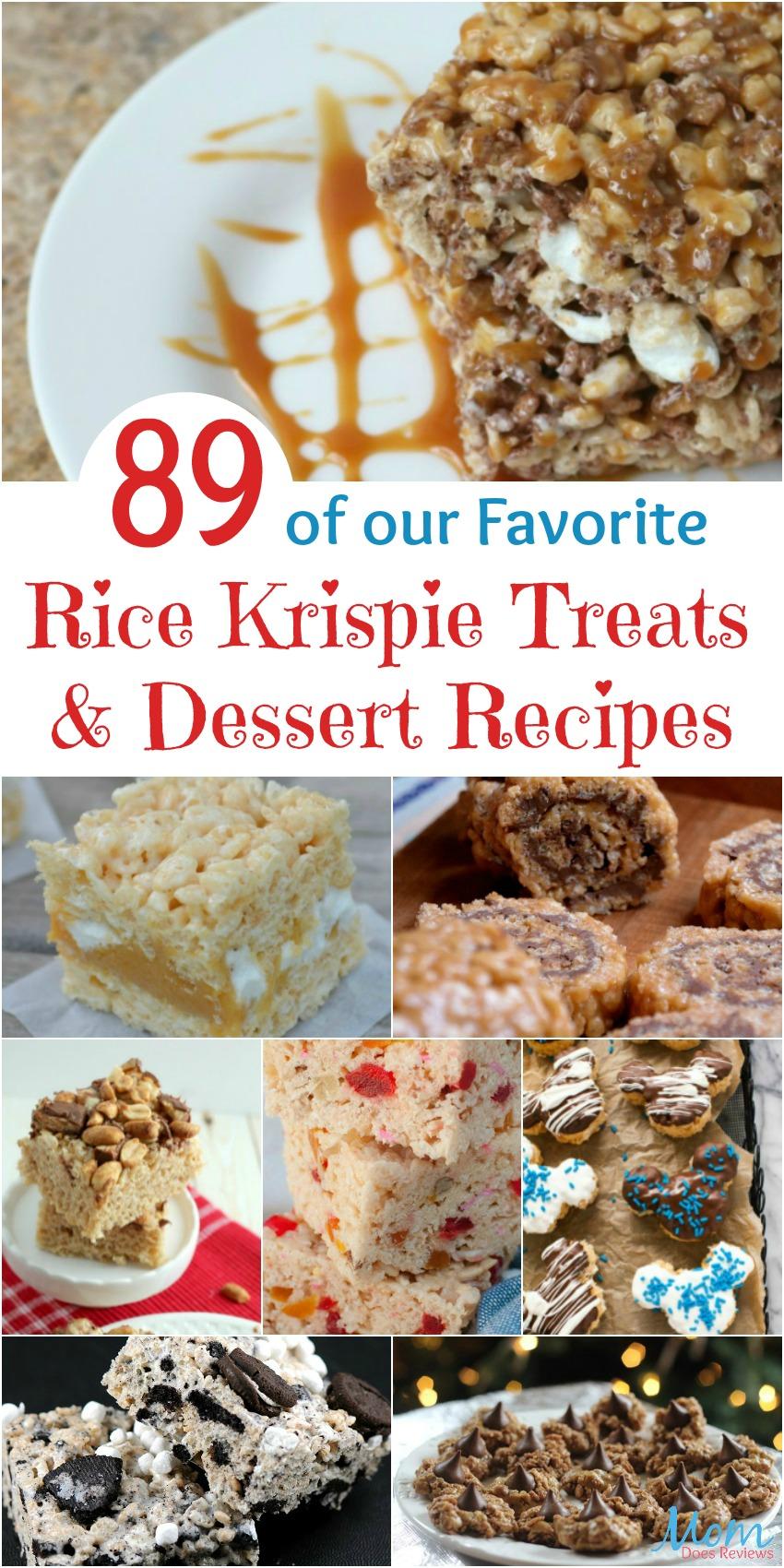 89 of our Favorite Rice Krispie Treats & Dessert #Recipes #desserts #treats #sweets #yummy #ricekrispietreats