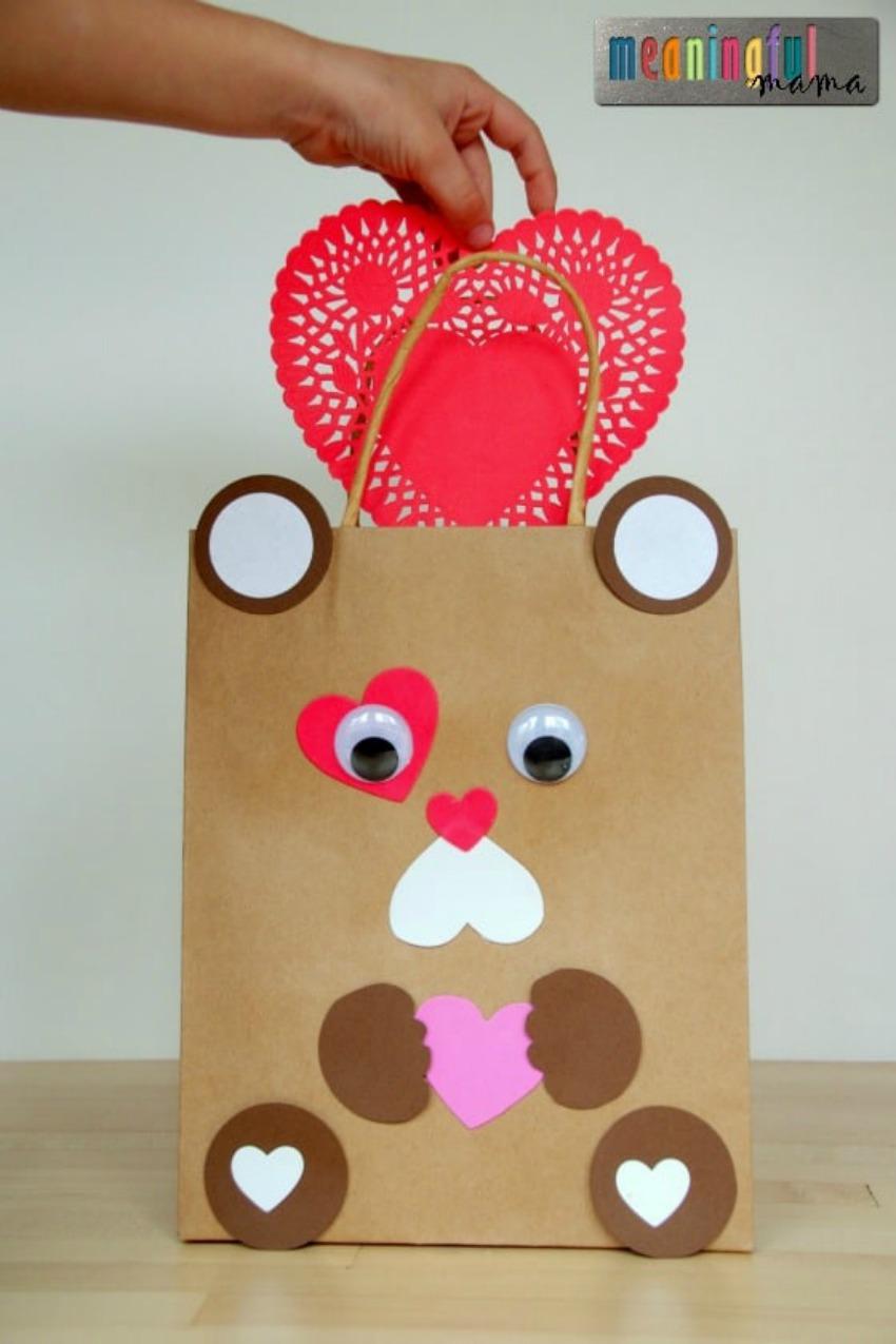 Teddy Bear Valentine Mailbox