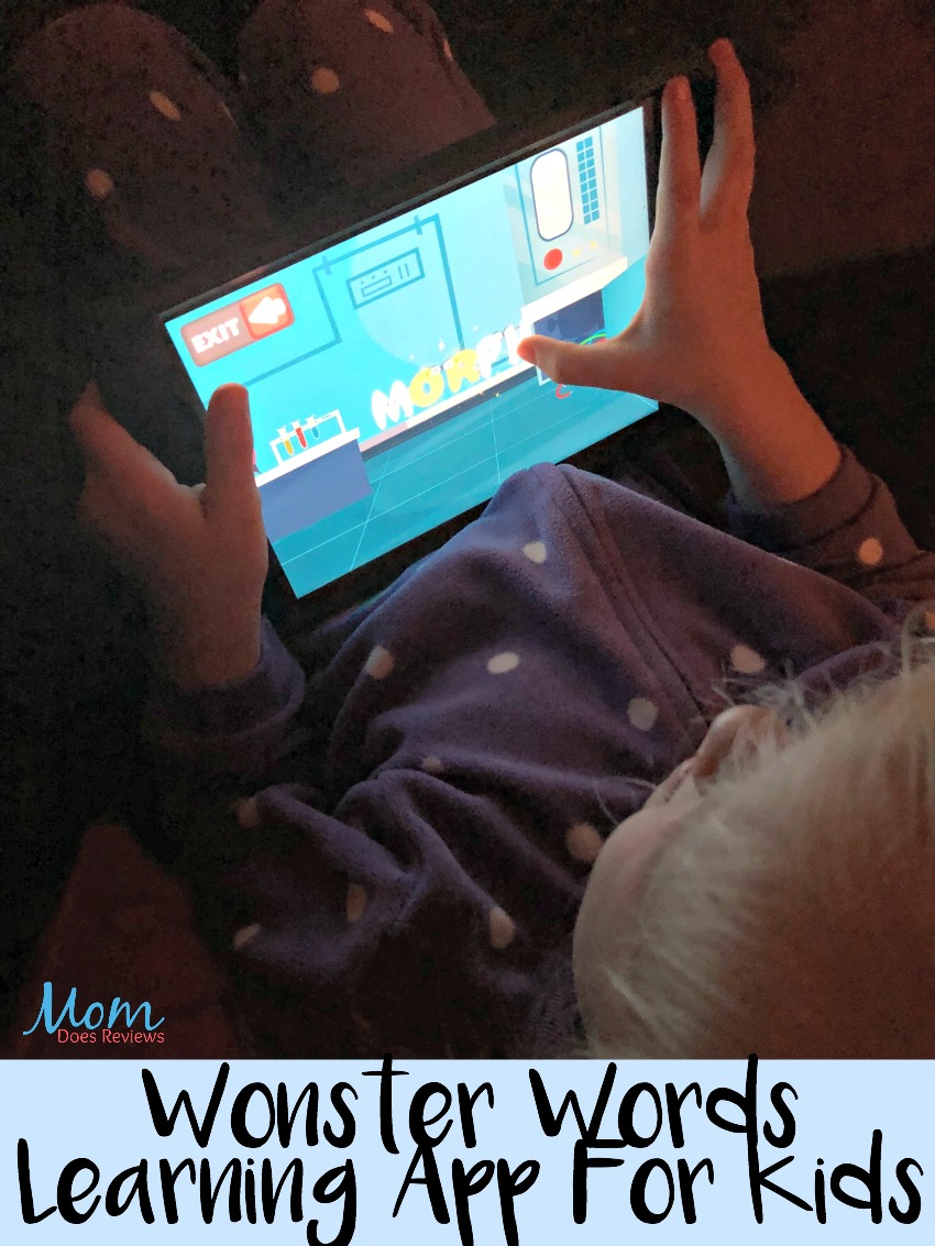 Wonster Words, great learning app for kids #ad #app #education #review #learning #fun #wonsterwords