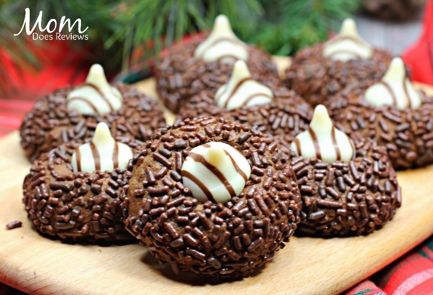 Chocolate Sprinkle Thumbprint Cookies #12DaysofChristmasCookies