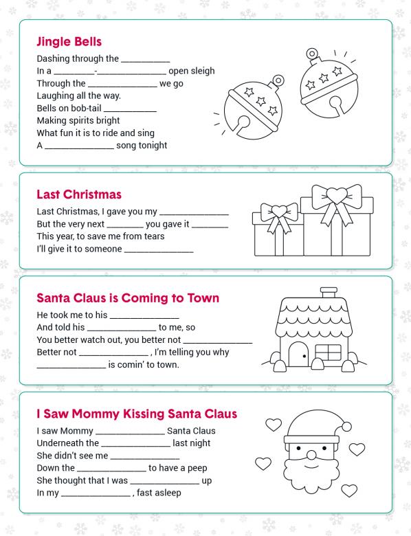 Fun Christmas Printable Activities #FreePrintables