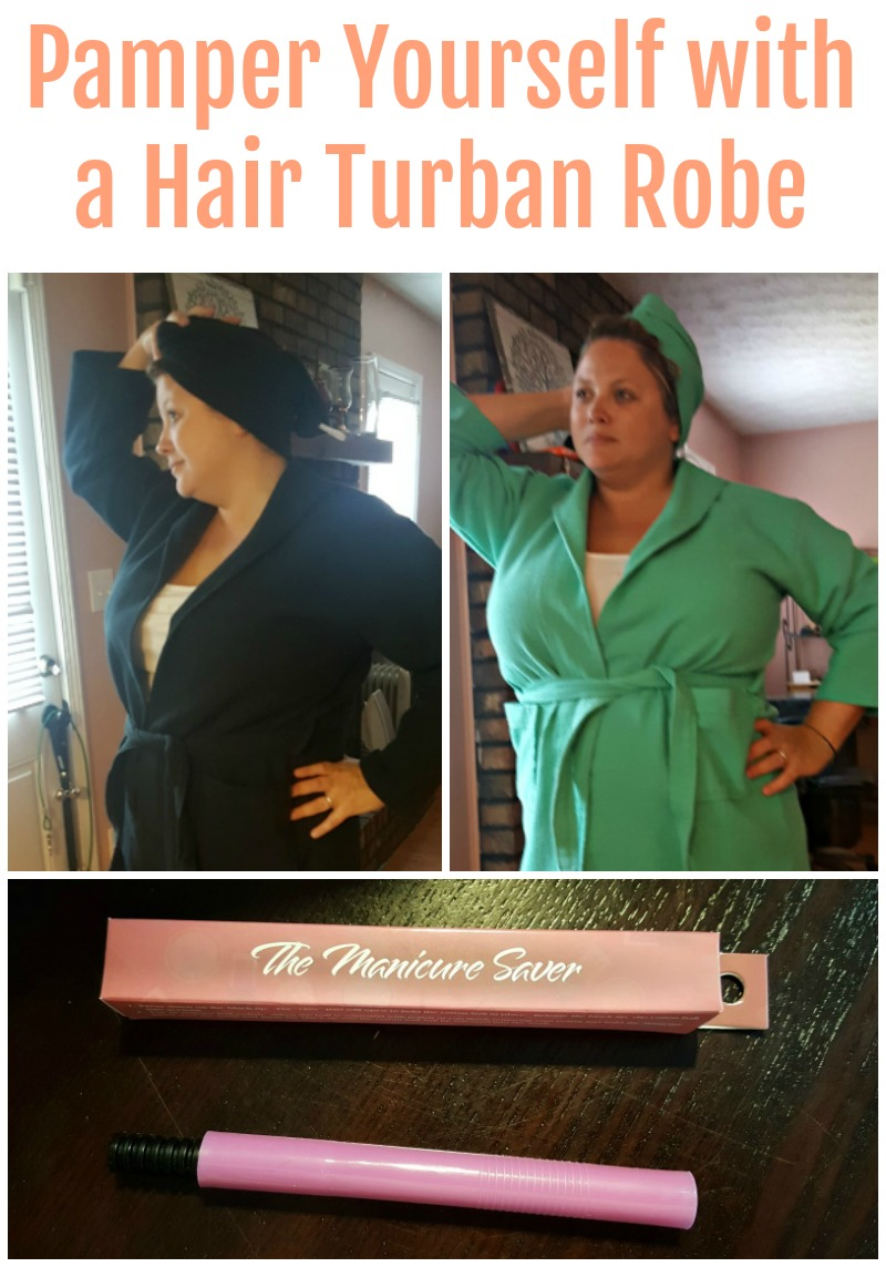 Pamper Yourself with a Hair Turban Robe