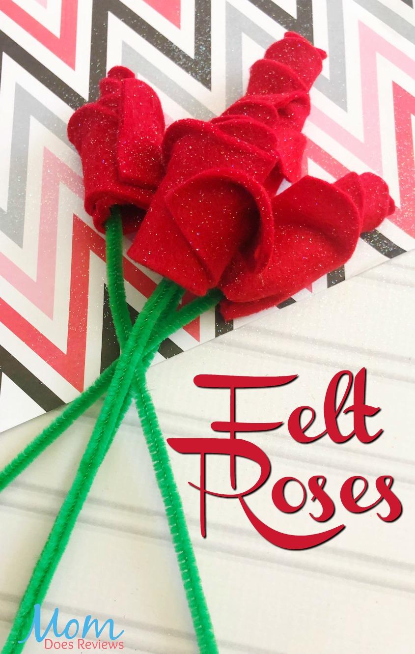 Felt roses #Diy #craft #valentinesday #easycraft #roses